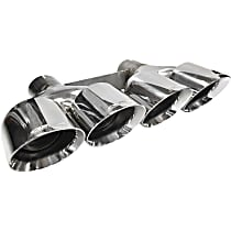 Corsa Pro-Series Rear Exit 14062 Quad Exhaust Tip, Polished, 4.5 in., Sold Individually