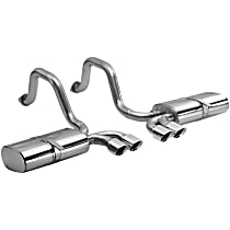 14111 Sport Series - 1997-2004 Chevrolet Corvette Axle-Back Exhaust System - Made of Stainless Steel
