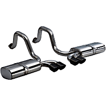14111BLK Sport Series - 1997-2004 Chevrolet Corvette Axle-Back Exhaust System - Made of Stainless Steel