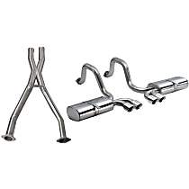 Corsa - 1997-2004 Chevrolet Corvette Cat-Back Exhaust System - Made of 304 Stainless Steel