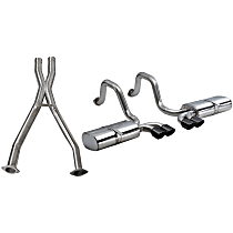 14111CBBLK Xtreme Series - 1997-2004 Chevrolet Corvette Cat-Back Exhaust System - Made of 304 Stainless Steel