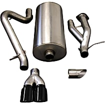 14216BLK Sport Series - 2003-2006 Hummer H2 Cat-Back Exhaust System - Made of Stainless Steel