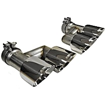 Corsa 14333 Exhaust Tip - Polished, Stainless Steel, Quad, Direct Fit, Set of 2