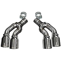14359 Exhaust Tip - Polished, Stainless Steel, Direct Fit, Set of 2