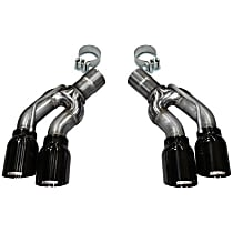 14359BLK Exhaust Tip - Black, Stainless Steel, Direct Fit, Set of 2