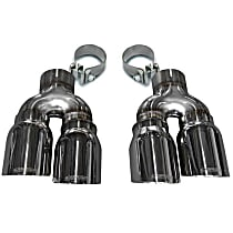 14479 Exhaust Tip - Polished, Stainless Steel, Direct Fit, Set of 2