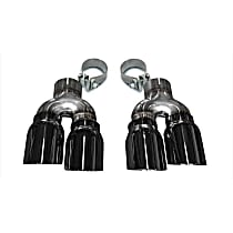 14479BLK Exhaust Tip - Black, Stainless Steel, Direct Fit, Set of 2