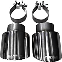 Corsa 14497 Exhaust Tip - Polished, Stainless Steel, Dual, Direct Fit, Set of 2