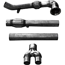 14507 Down Pipe - Natural, Stainless Steel, Direct Fit, Kit