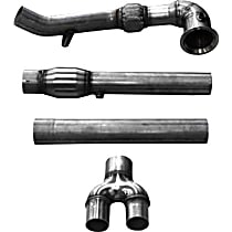 Down Pipe - Natural, Stainless Steel, Direct Fit, Kit