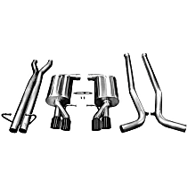 Corsa Sport - 2005-2009 Audi S4 Cat-Back Exhaust System - Made of Stainless Steel