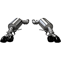 14556BLK Sport Series - 2005-2010 BMW Axle-Back Exhaust System - Made of Stainless Steel