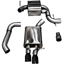 14598BLK Touring Series - 2006-2009 Volkswagen Jetta Cat-Back Exhaust System - Made of Stainless Steel
