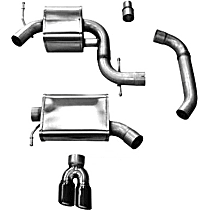 14831BLK Touring Series - Volkswagen Jetta Cat-Back Exhaust System - Made of Stainless Steel