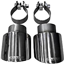 Corsa 14833 Exhaust Tip - Polished, Stainless Steel, Dual, Direct Fit, Set of 2