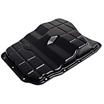 4736676AA Transmission Pan - Black, Steel, Stock Depth, Direct Fit, Sold individually