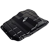 Crown 4736676AA Transmission Pan - Black, Steel, Stock Depth, Direct Fit, Sold individually
