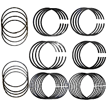 Crown 5012364AAK020 Piston Ring Set - Direct Fit, Set of 8