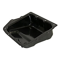 5078556AA Transmission Pan - Black, Steel, Stock Depth, Direct Fit, Sold individually