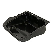 Crown 5078556AA Transmission Pan - Black, Steel, Stock Depth, Direct Fit, Sold individually