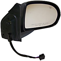 Passenger Side Heated Mirror - Power Glass, Manual Folding, Textured Black