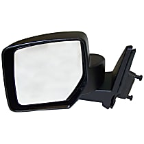 Driver Side Non-Heated Mirror - Manual Glass,, Paintable