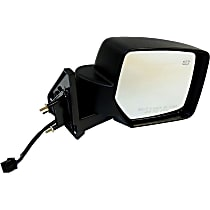 Passenger Side Non-Heated Mirror - Manual Glass, Non-folding, Black