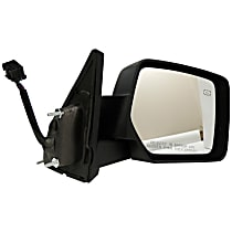Passenger Side Heated Mirror - Power Glass, Manual Folding, Textured Black