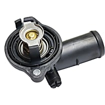 5184651AF Thermostat Housing - Black, Metal, Direct Fit, Sold individually