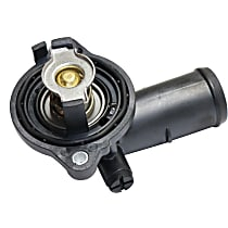 Crown 5184651AF Thermostat Housing - Black, Metal, Direct Fit, Sold individually