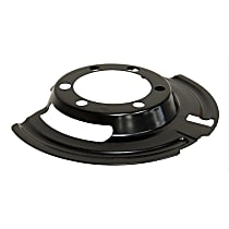52005476 Brake Dust Shields - Black, Steel, Direct Fit, Sold individually