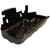 52100219AB Fuel Tank Skid Plate, Black, Steel, Direct Fit