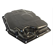 52852912AC Transmission Pan - Black, Steel, Stock Depth, Direct Fit, Sold individually