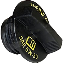 53013775AB Oil Filler Cap - Black, Plastic, Direct Fit, Sold individually