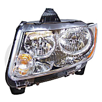 Driver Side Headlight, With bulb(s)