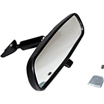 Rear View Mirror - Black, Plastic and Glass, Direct Fit, Sold individually