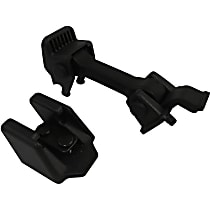 Crown 55395653K Hood Catch - Black, Plastic and Rubber, Direct Fit, Sold individually