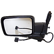 Driver Side Heated Mirror - Power Glass,, Black