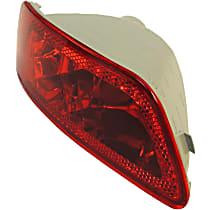 Rear, Passenger Side Fog Light, Without bulb(s)