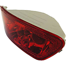 Rear, Driver Side Fog Light, Without bulb(s)