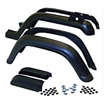 5AHK6 Front and Rear, Driver and Passenger Side Fender Flares, Black