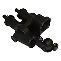 68003582AB Thermostat Housing - Black, Plastic, Direct Fit, Sold individually
