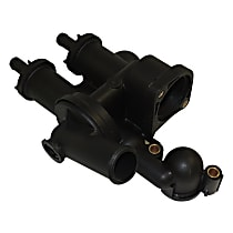 Crown 68003582AB Thermostat Housing - Black, Plastic, Direct Fit, Sold individually
