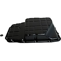 68065923AA Transmission Pan - Black, Steel, Stock Depth, Direct Fit, Sold individually