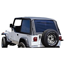 RT Off-Road Bowless Black Vinyl Coated Polyester and Cotton Soft Top - Without Frame (Requires Factory Frame)