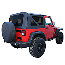 RT10535T RT Off-Road Replacement Black Soft Top - Without Frame (Requires Factory Frame)
