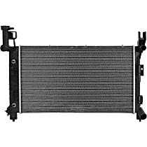 Aluminum Core Plastic Tank Radiator, 25.56 x 14.88 x 1.25 in. Core Size