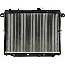 Aluminum Core Plastic Tank Radiator, 20.06 x 27.69 x 2.06 in. Core Size