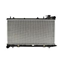 Aluminum Core Plastic Tank Radiator, 13.38 x 27.25 x 0.63 in. Core Size