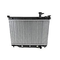 Aluminum Core Plastic Tank Radiator, 18.13 x 27.06 x 0.94 in. Core Size